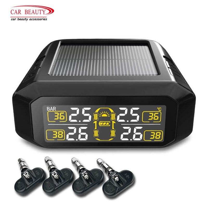 Système de surveillance de pression de pneu de voiture numérique portatif intelligent de l'énergie solaire TPMS pour l'électronique automatique d'alarme de pneu de sécurité