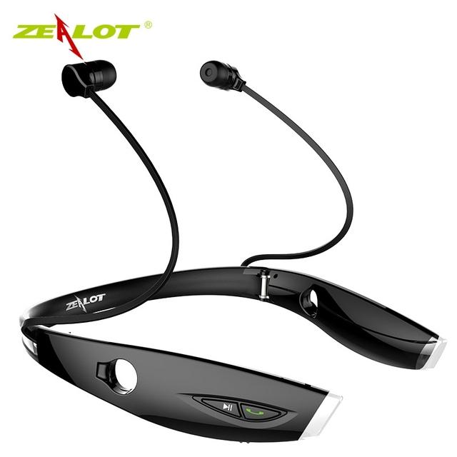 Zealot h1 deporte stereo bluetooth headset auriculares manos libres de auriculares inalámbricos luminoso para iphone 7 xiaomi auricular bluetooth