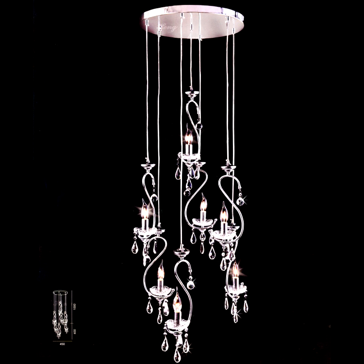 European style chandelier pendant lamps long Swan staircase chandelier lamp hanging lamp ...