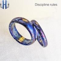 18.5mm Titanium Ma Shige Color Ring Metal Titanium Burning Blue Ring