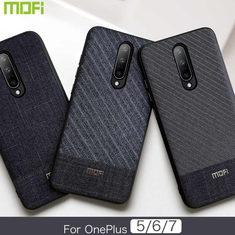 For Oneplus 7 Case For Oneplus 6 Case 6T 5T 5 Cover Hard Back Cover For Oneplus Series Cloth Fabrics Gentleman 6T Case 5T 7 Pro
