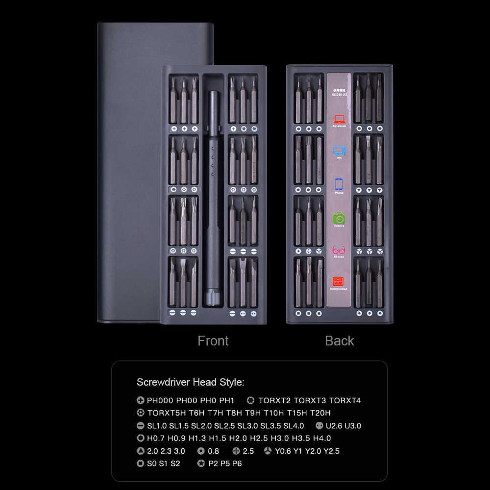 NEWACALOX 48 قطعة متعددة أداة مفك مغناطيسي مجموعة مصغرة برغي دقيق سائق إصلاح أدوات الهواتف المحمولة ووتش مع سبائك حالة