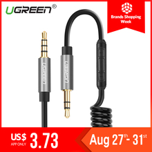Ugreen Coiled Audio Cable Jack 3.5mm Aux Cable for Xiaomi redmi note 4x honor 9 lite Car Speaker Line MP4 Player 3.5 mm AUX Cord