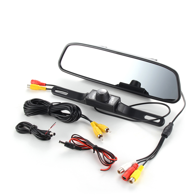 Car Rearview Mirror font b Monitor b font With Backup Reverse Camera TFT LCD Color Parking