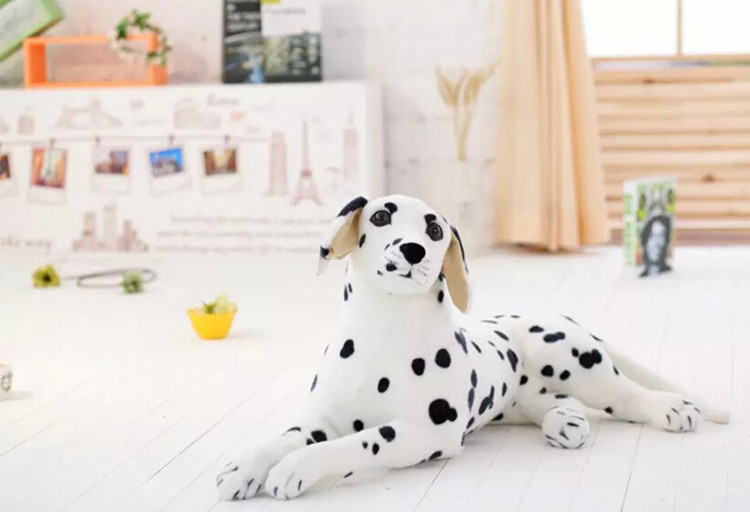 , En peluche jouet 45 cm sujettes dalmatien chien en peluche jouet pour chien couché cadeau d'anniversaire b0904