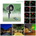Remote 12 Patterns Red Green Christmas Lights Garden Laser Projector Outdoor Waterproof Xmas Tree Holiday Party Landscape Light