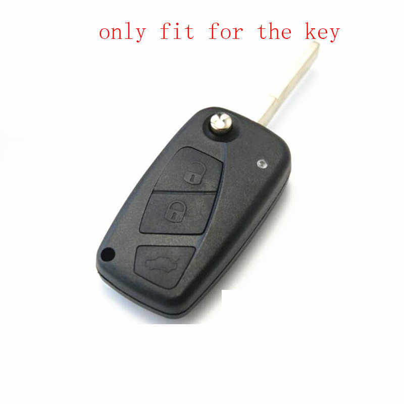 ZAD 3 boutons silicone caoutchouc voiture etui clés titulaire pour FIAT Panda Stilo Punto Doblo Ducato Minibus Grande Bravo 500 porte-clés