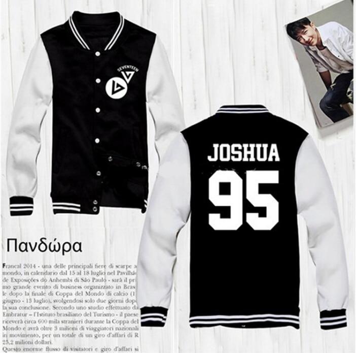 Seventeen Kpop Clothes Baseball Jacket Men Women Leisure Suit ...