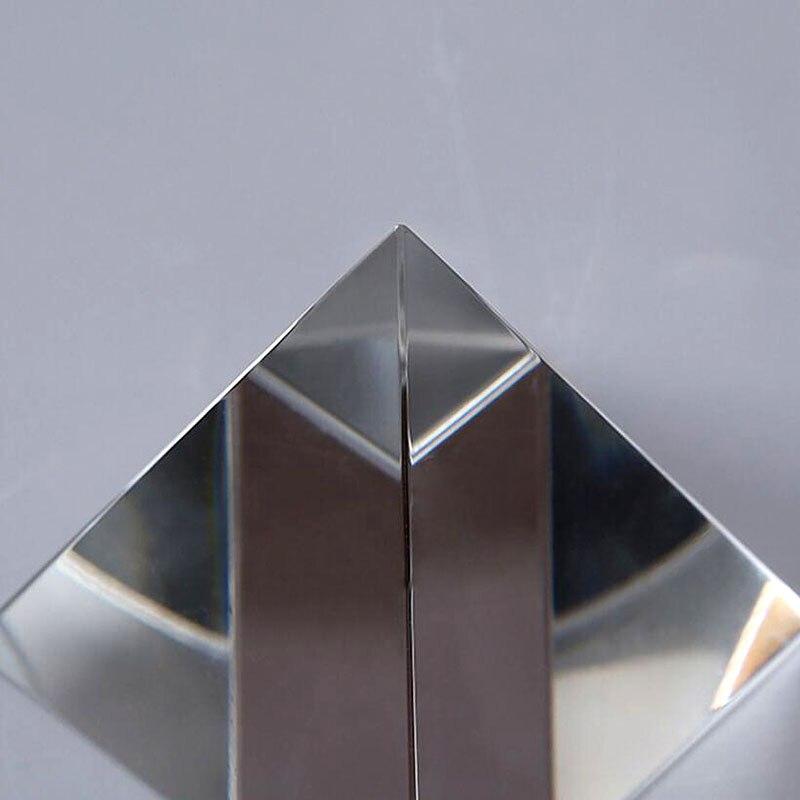 Accessoires de décoration GLQA Accessoires de Maison Guérison Énergétique Cristal Feng Shui Transparent Pyramide Décoration Décoration De La Maison Salon Décoration