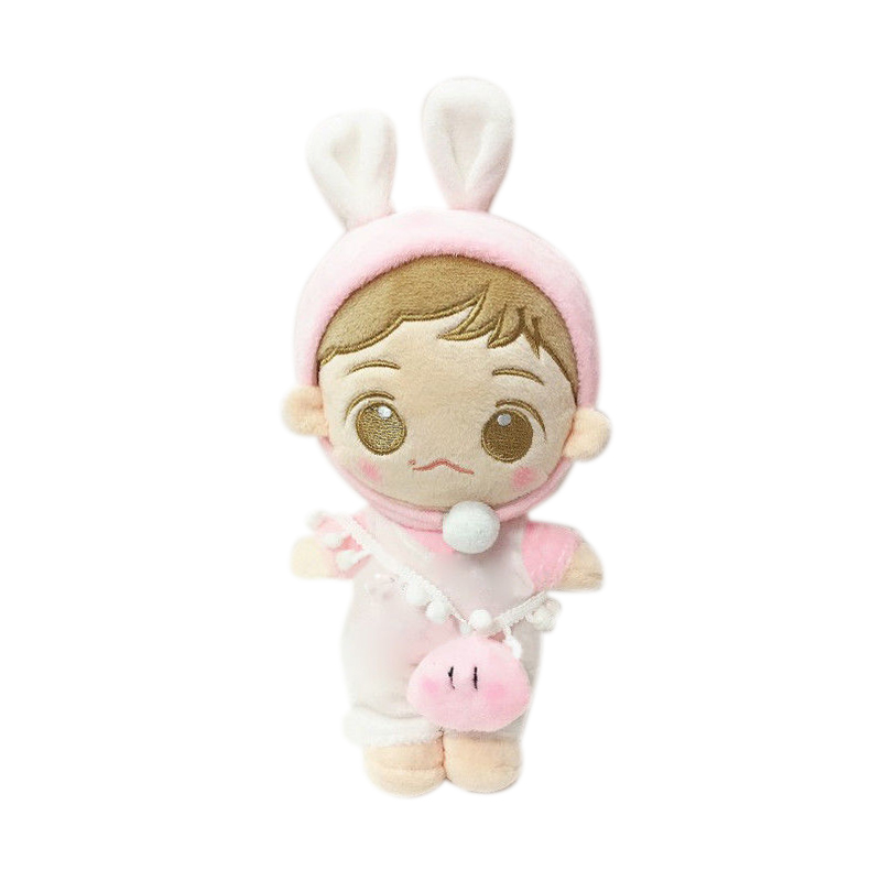 Korea Kawaii Pink Plush Toy Stuffed Doll with Clothes PP Cotton Cartoon Plush Toy Stuffed Doll Gift Toys Collection Fans Gifts