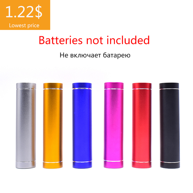 18650 Battery box Portable DIY USB Mobile Power Bank Charger Pack Box Battery Case Multicolor Metal Power Bank Kit Storage Case
