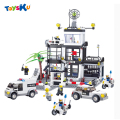 Police Headquarters Building Block Set 631pcs Figures Bricks Boys and Girl Toys