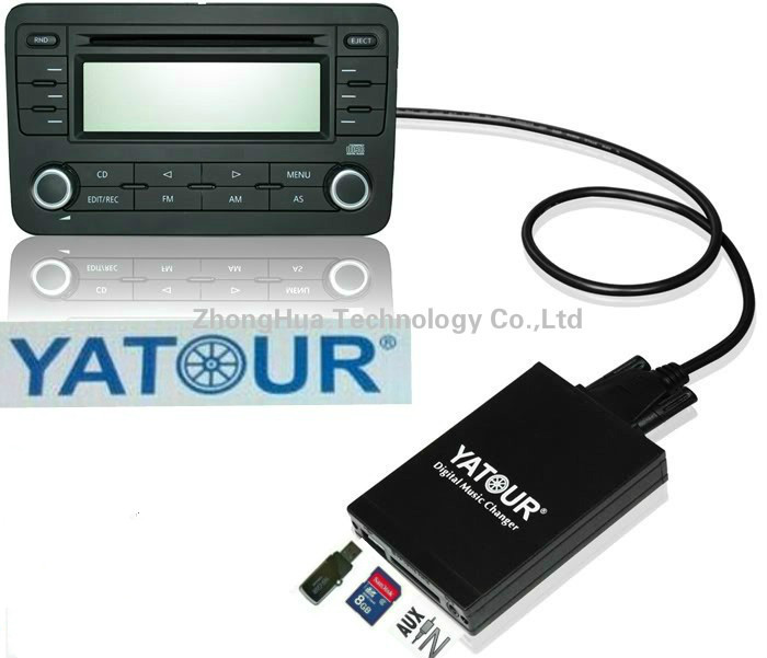 Yatour Digital CD changer USB SD AUX Bluetooth interface for VW Audi Skoda Seat Quadlock 12-pin MP3 Adapter  Interface yatour digital music car cd changer mp3 usb sd bluetooth aux adapter for honda accord civic crv acura 2004 2011 mp3 interface