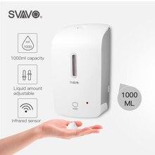 SVAVO 1000ml Automatic Foam Soap Dispenser Wall Mounted Infrared Smart Sensor Bathroom KitchenShower Shampoo Foam Soap Dispenser