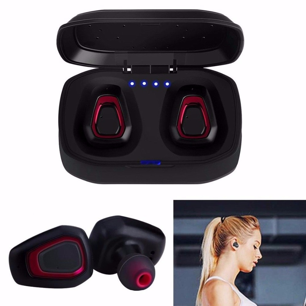 A7 TWS Wireless Bluetooth Earphones In-Ear Stereo Paird Earbuds With Mic + Charging Box Bluetooth Headset Handsfree Earphone