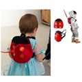 Ladybug Children Harness girls School Bags Reins Satchel Rucksacks Backpack Baby Safety Lunch Bag