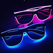 Новинка мигающий EL Wire светодиодный светильник, светящиеся вечерние очки, декоративный светильник, подарок, яркий светодиодный светильник, вечерние очки