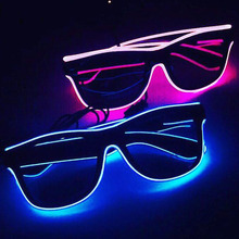 Novelty Flashing EL Wire Led Glasses Luminous Party Decorative Lighting glasses Gift Bright LED Light Up Party ELGlasses cheap CN(Origin) NONE UWELG0010 Wedding THANKSGIVING Birthday Party April Fool s Day Christmas Wedding Engagement Children s Day