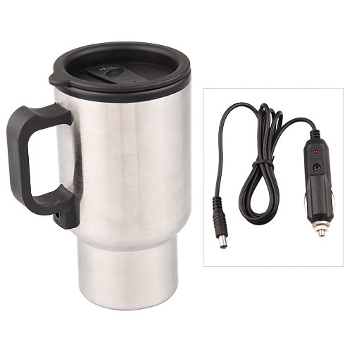 TOLYLE 12 V Inoxydable Stee Voiture Thermo Tasse Chauffage Électrique pour Café Thé Tasse Voyage Thermol Bouteille Thermocup 450 ML