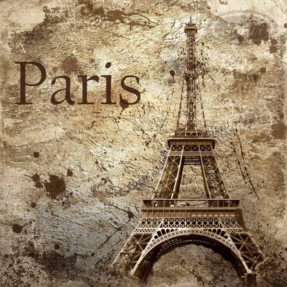 Free shipping eco friendy 3d huge mural paris eiffel tower for Paris wallpaper for bedroom