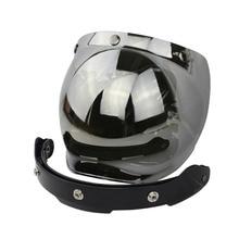 BLUR Bubble Mirror Helmet Accessories Motorcycle Helmet Accessories For Haley 4 Colour 3/4 Open Face Retro Helmet Lens