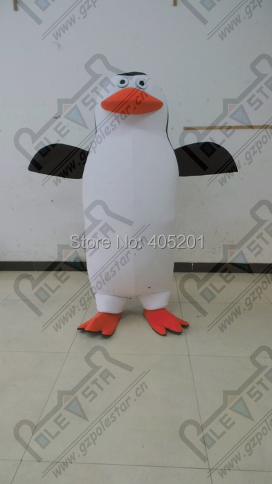 3D лицо большие ноги пингвин талисмана большой белый живот Пингвин Костюмы