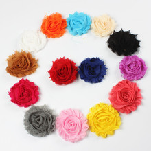 10pcs/lot 15colors Fashion Chic Shabby Chiffon Flowers For Baby Hair Accessories 3D Frayed Fabric Girl Headbands