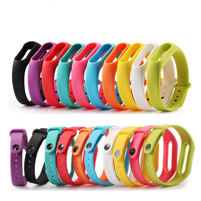 10PCS Xiaomi mi band 2 Wrist Strap Belt Silicone Colorful Wristband for Mi Band 2 Smart Bracelet for Xiaomi Band 2 Accessories jansin 22mm watchband for garmin fenix 5 easy fit silicone replacement band sports silicone wristband for forerunner 935 gps
