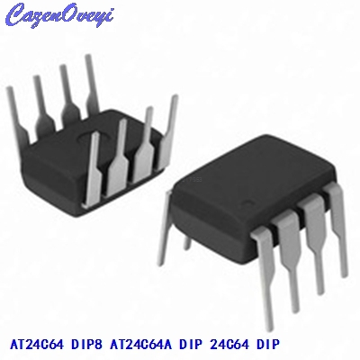 10pcs/lot New AT24C64N 24C64 24C64AN AT24C64 DIP-8 EEPROM Memory IC In Stock