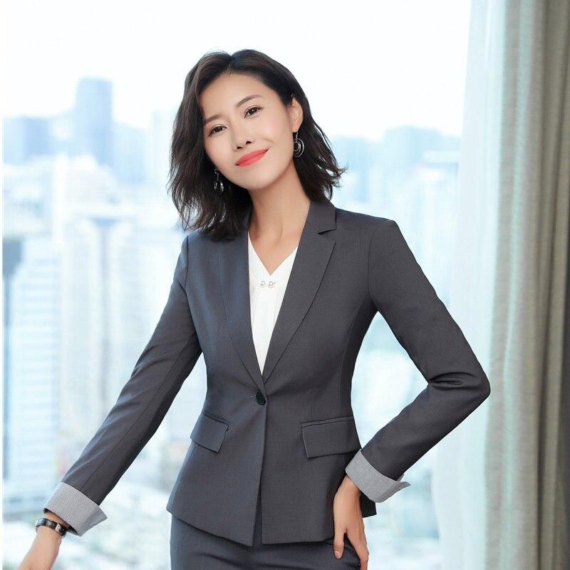 964ec85c50 Designs Porter Femme grey Vestes Manteau Mode Travail Blazers Uniformes  Styles Vêtements Femmes Patchwork Hauts Black ...