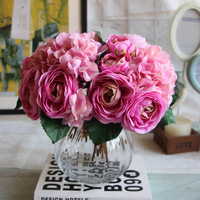 1 Bouquet Artificial Silk Flower Pink Yellow White Pretty Charming Delightful Mini Bride Bouquet Bridal Home