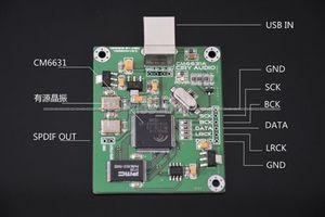 Image 2 - CM6631A บอร์ด DAC ดิจิตอลการ์ดอินเทอร์เฟซ USB IIS เอาต์พุต SPDIF 24Bit 192 พัน 384 พัน ASIO