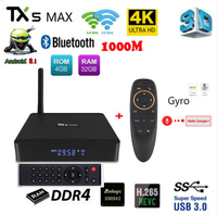 TX5 MAX PRO DDR4 4GB RAM 32GB ROM 2.4G 5G WiFi 1000M LAN Bluetooth Android 8.1 TV Box Amlogic S905X2 Quad Core 4K HD Smart Box