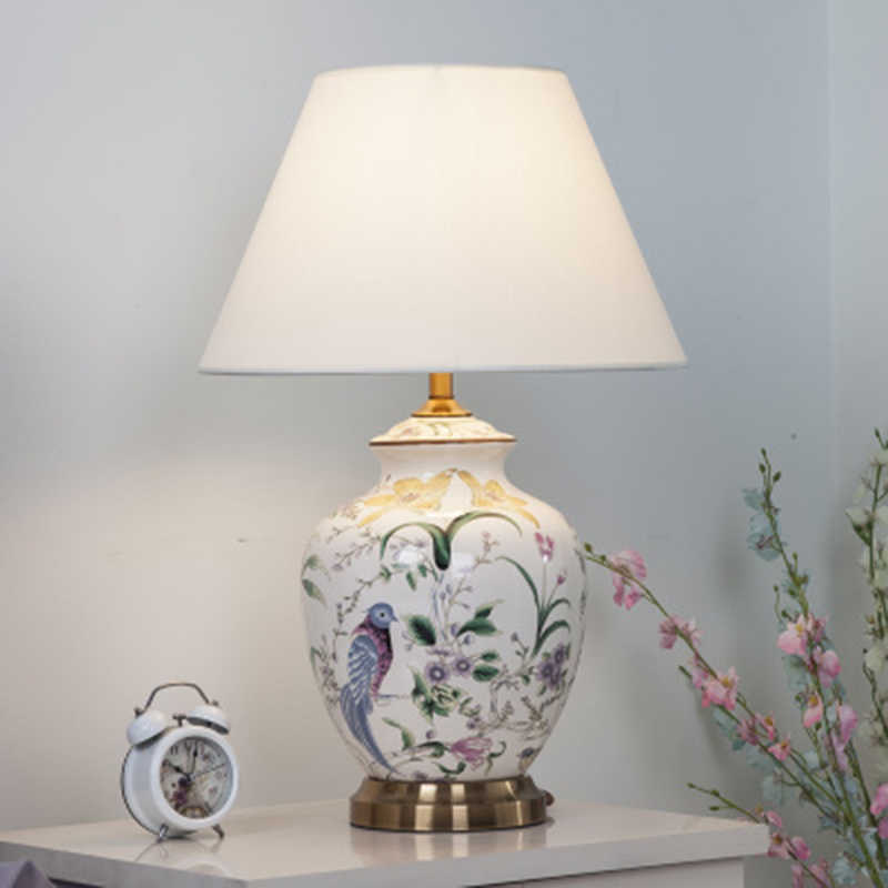Chinese Style Ceramic Led Table Lamps