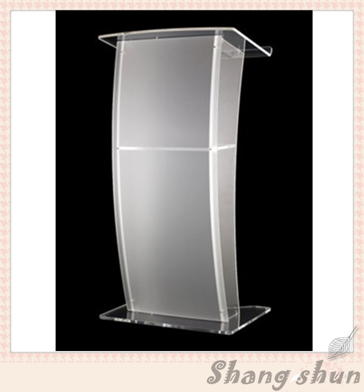 Luxury Acrylic Lectern, Perspex Podium, Plexiglass Church Pulpit Modern Acrylic Lectern Podium Pulpit