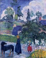 High quality Oil painting Canvas Reproductions Among the lillies (1893) by Paul Gauguin hand painted