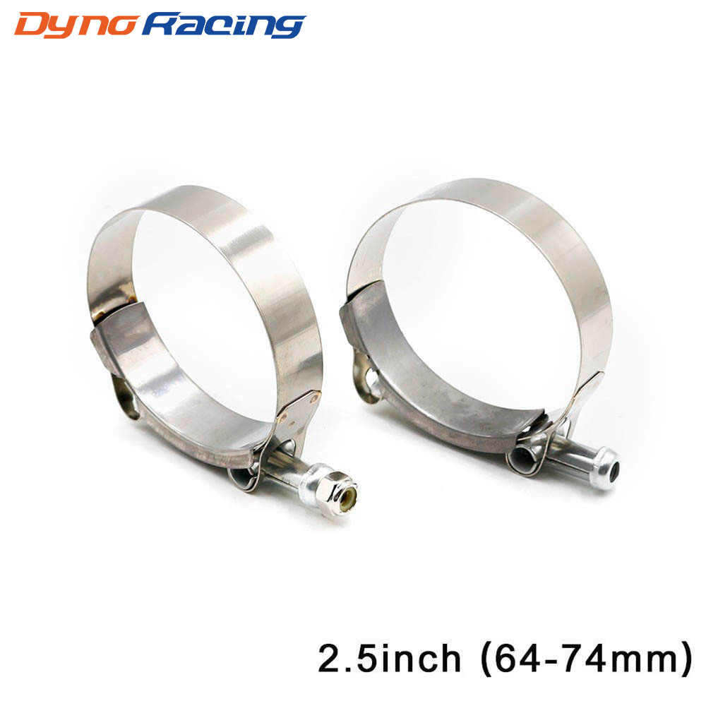 "Universal 2.5 ""Inch (64mm-74mm) siliconen Turbo Slang Koppeling T Bolt Super Clamp Kit Uitlaatpijpen Turbo Downpipe Klem"