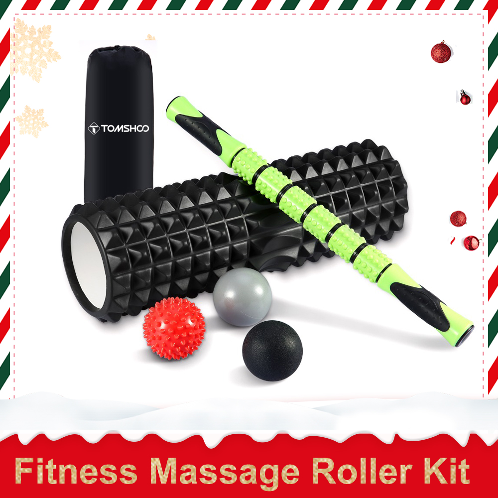 TOMSHOO 6-en-1 Fitness Rouleau De Massage Kit 18