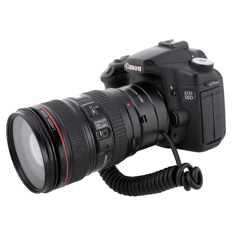 Meike MK-C-UP Auto Macro Tube d'extension AF adaptateur inverse pour appareil photo Canon EOS EF caméra de montage 6D 5D MARK IV 70D 200D 6D II - 3