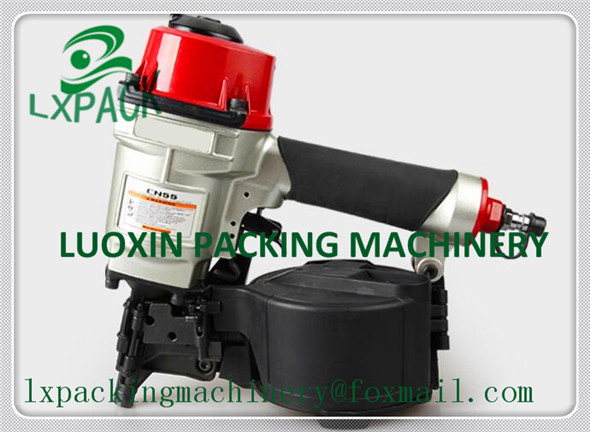 LX-PACK Lowest factory price Industrial Pneumatic Coil Nailer Air Nail Gun Tool industrial coil nailer for pallet making kmt cn130 industrial pnematic coil nail gun coil nailer air nailer taiwan brand with great quality
