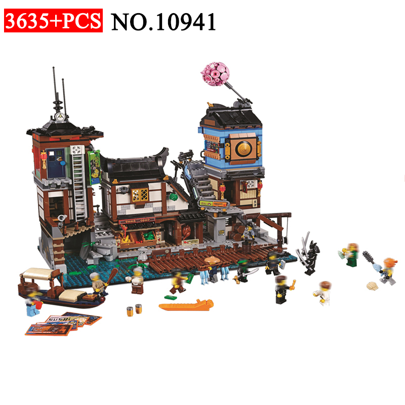 BELA 10941 Ninja series The Ninja City Docks Model Building Blocks set Compatible 70657 classic Architecture Toys for children 2018 new famous architecture series the french arc de triomphe 3d model building blocks classic toys gift