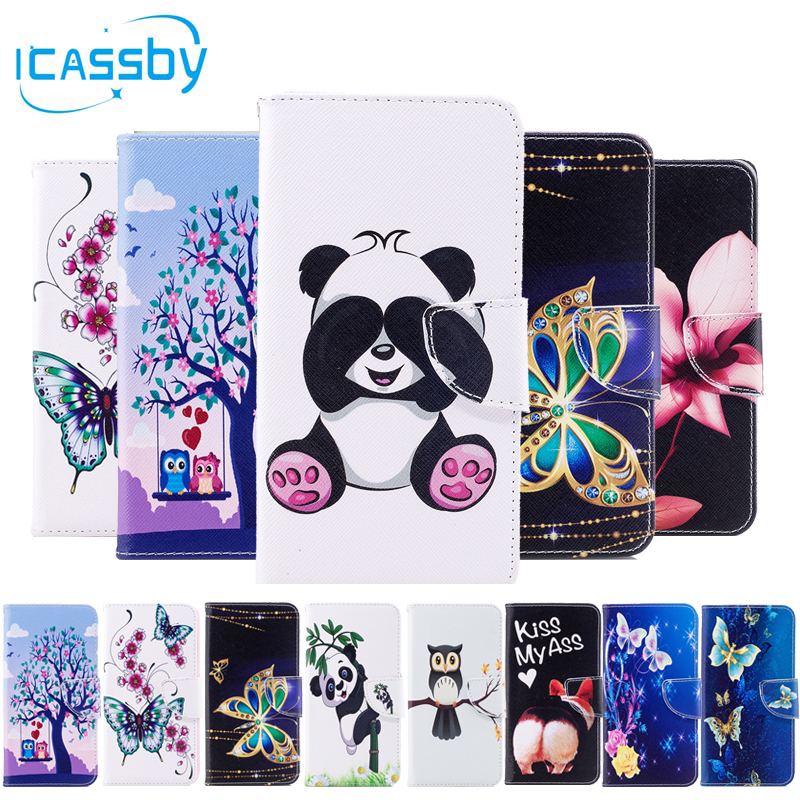 Case For Sony Xperia Xa1 Case Leather Wallet Phone Cases For Soni Experia Xa1 Cover 3d Cat Panda Flip Etui For Sony Xa1 Coque Wallet Cases