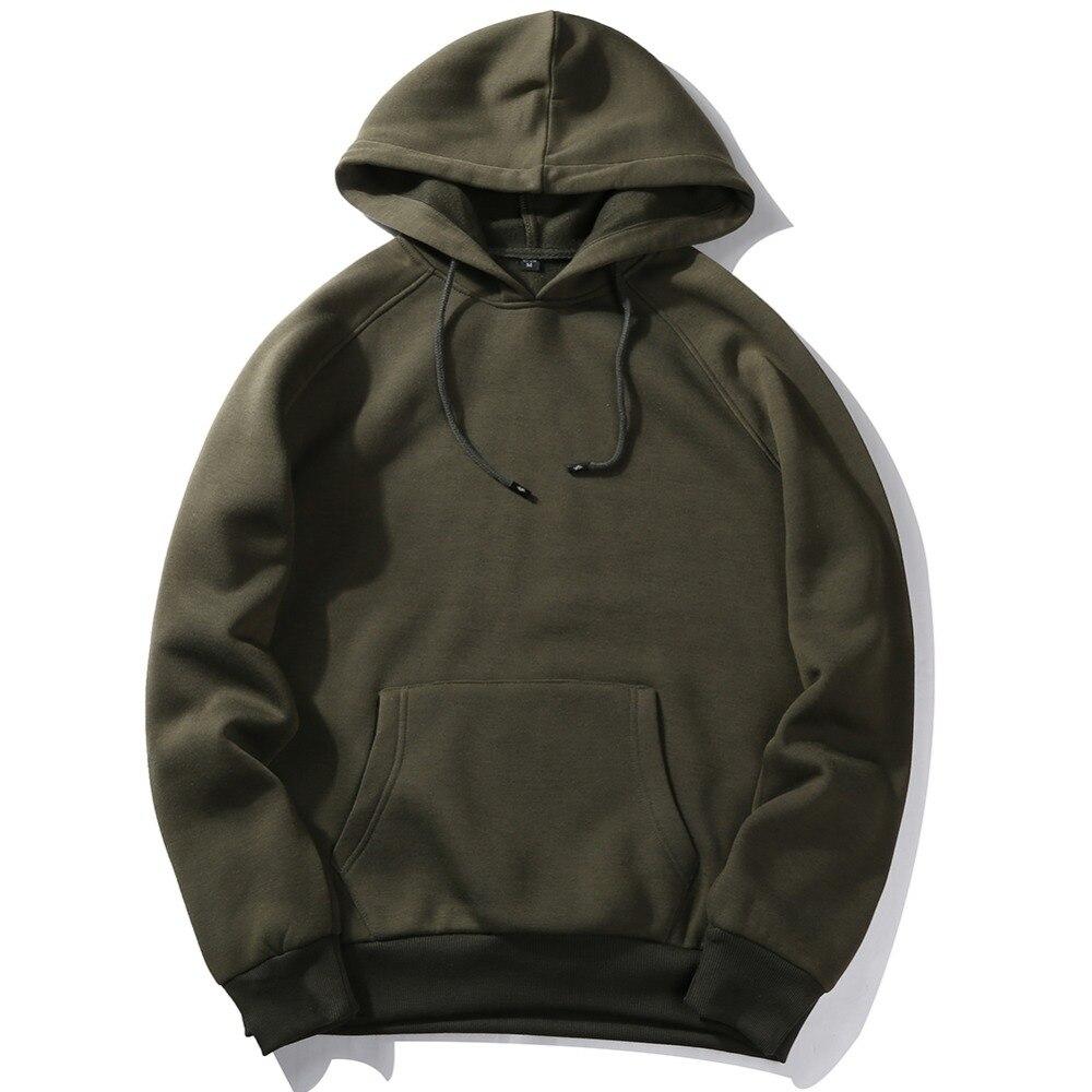 USA TAILLE Mode Couleur de Hooides Hommes Épais Vêtements D'hiver Sweats Hommes Hip Hop Streetwear Solide Polaire Sweat À Capuche Homme Vêtements