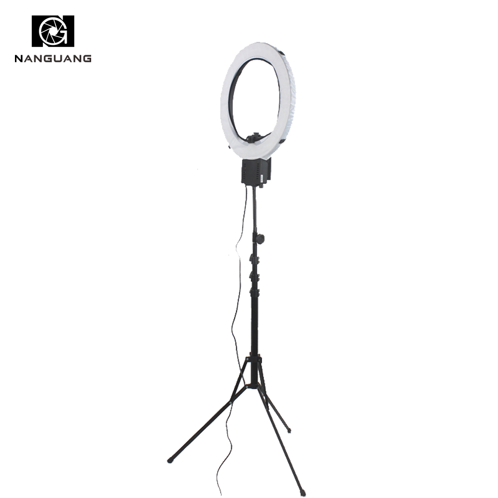 5400K 65W Stepless Dimming Ring Light Lamp with 210CM Folded Stand for Still-life Photographic Portrait