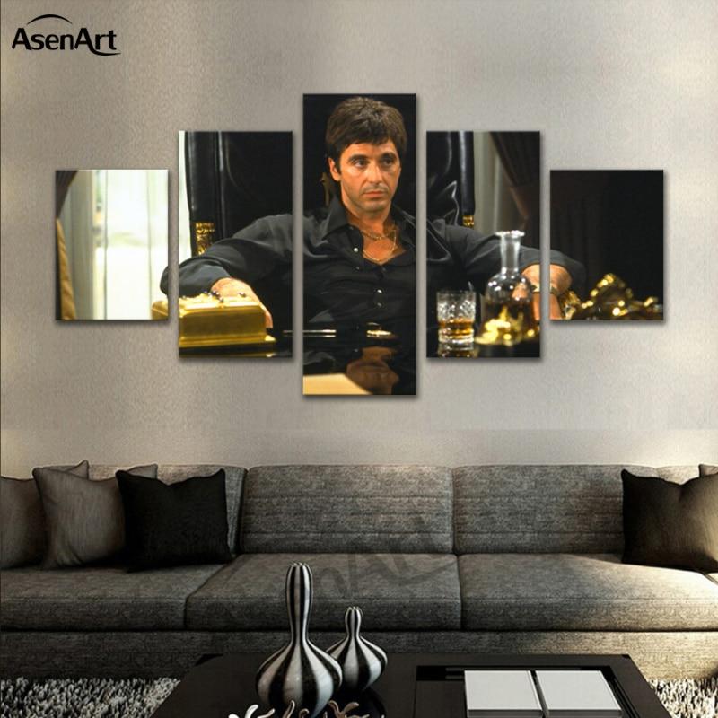5 Pieces Art Movie Star Al Pacino Pacino in Tony Montana