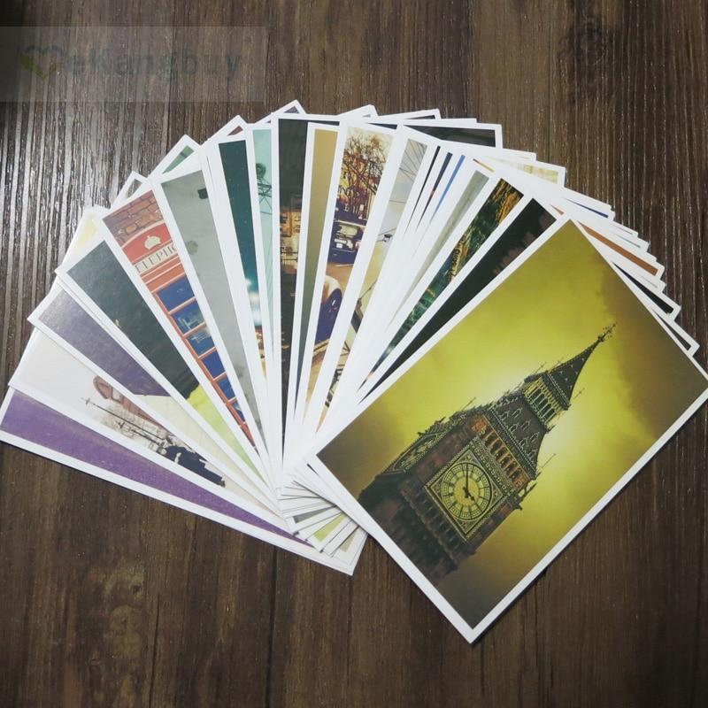 3sets/lot Remember London Cards 30sheets/set Architectural Landscape Postcard Gift Card