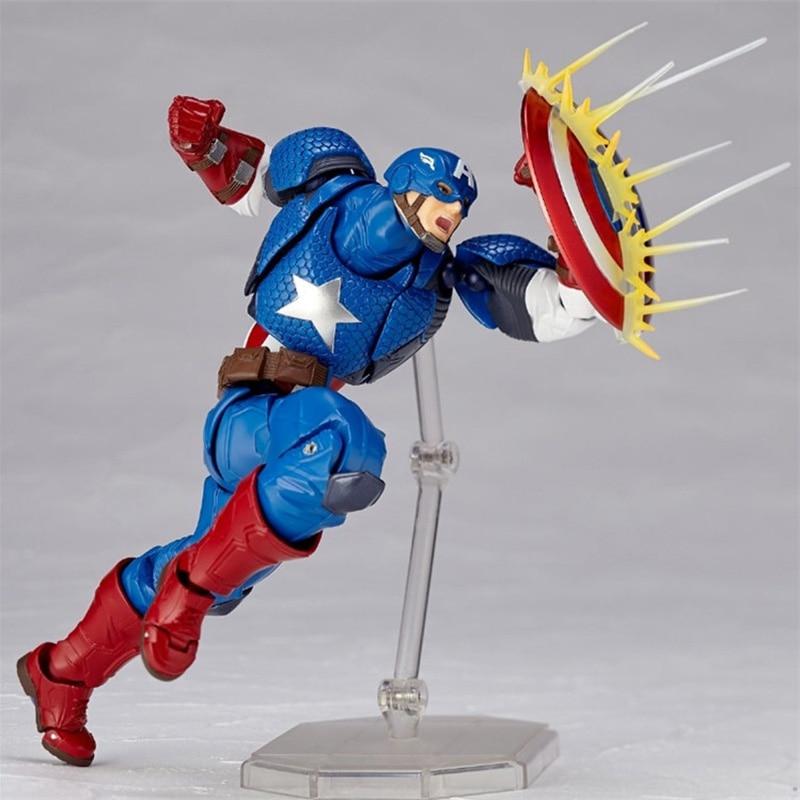 Revoltech Amazing Red Venom Carnage Amazing Captain America Spiderman Magneto Wolverine X-men Action Figures Toy Doll (4)