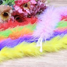 1 sztuk 10g 2 jardów długość puszyste boa z piór super jakość marabut boa z piór na imprezę kostiumy szal boa z piór indyka tanie tanio Marabut feather Barwione 10gmt NoEnName_Null New dyeing Brand new unused Marabou feathers