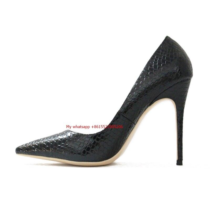 Serpent Cm 12cm blanc Robe Haut 12 Showed En Talon Pompes As Imprimé Cuir Assez Femmes Chaussures café vqgXZ