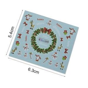 Image 2 - Juego de calcomanías de Navidad para manicura, juego de 44 láminas para uñas, diseños de invierno, CHNJ004